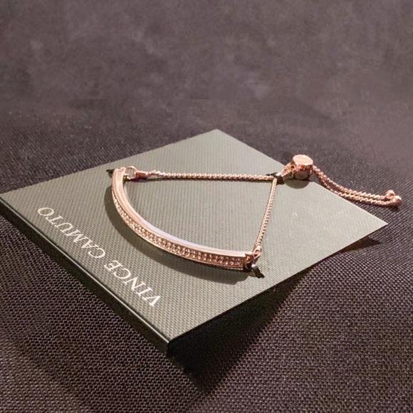 Vince Camuto Jewelry - Vince Camuto Pave Rose Gold Slider Bracelet